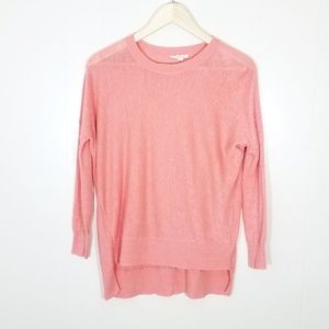 Eileen Fisher Linen Lightweight Coral Sweater